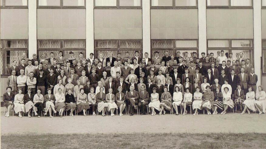 Bilde av Sandar Yrkesskole 1960