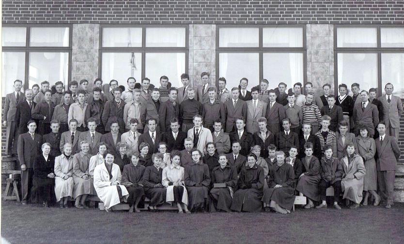 Bilde av Sandar Yrkesskole 1954 - 55