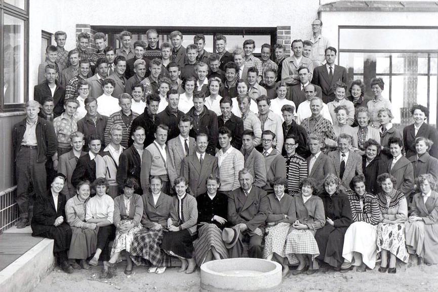 Bilde av Sandar Yrkesskole 1956 - 57