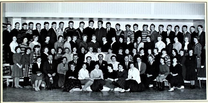 Bilde av Skiringsal Folkehøyskole 1959-60