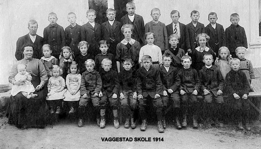 Bilde av VAGGESTAD SKOLE 1914