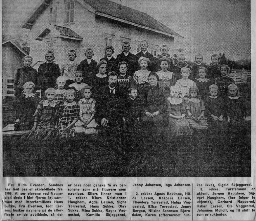 Bilde av VAGGESTAD SKOLE 1909