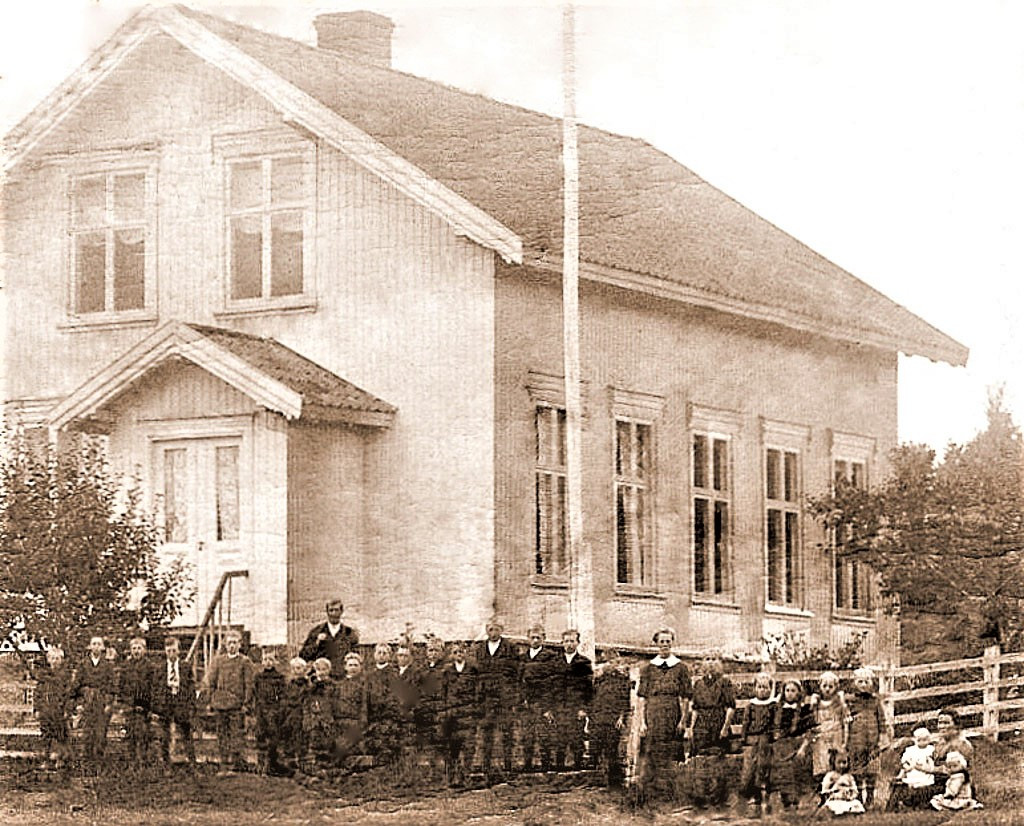 Bilde av Vaggestad Skole året 1914.