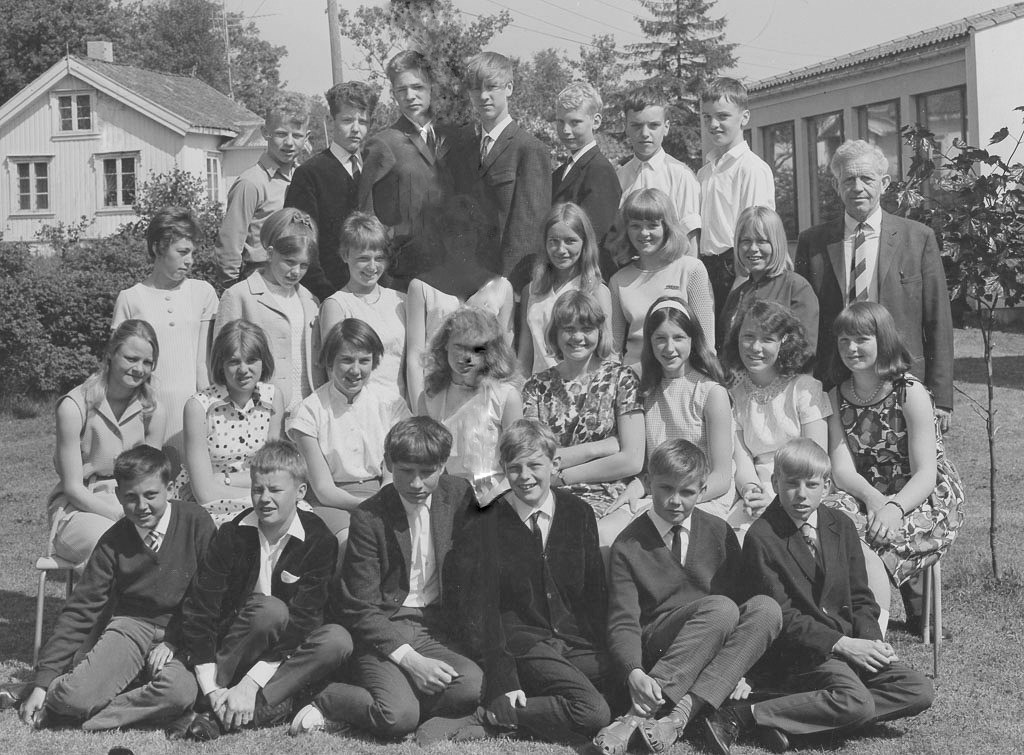 Bilde av Klassebilde 1967 - 7. klasse