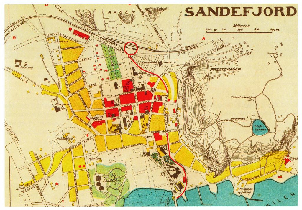Bilde av Sandefjord ca. 1932
