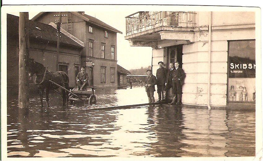 Bilde av Oversvømmelse Brygga 1921