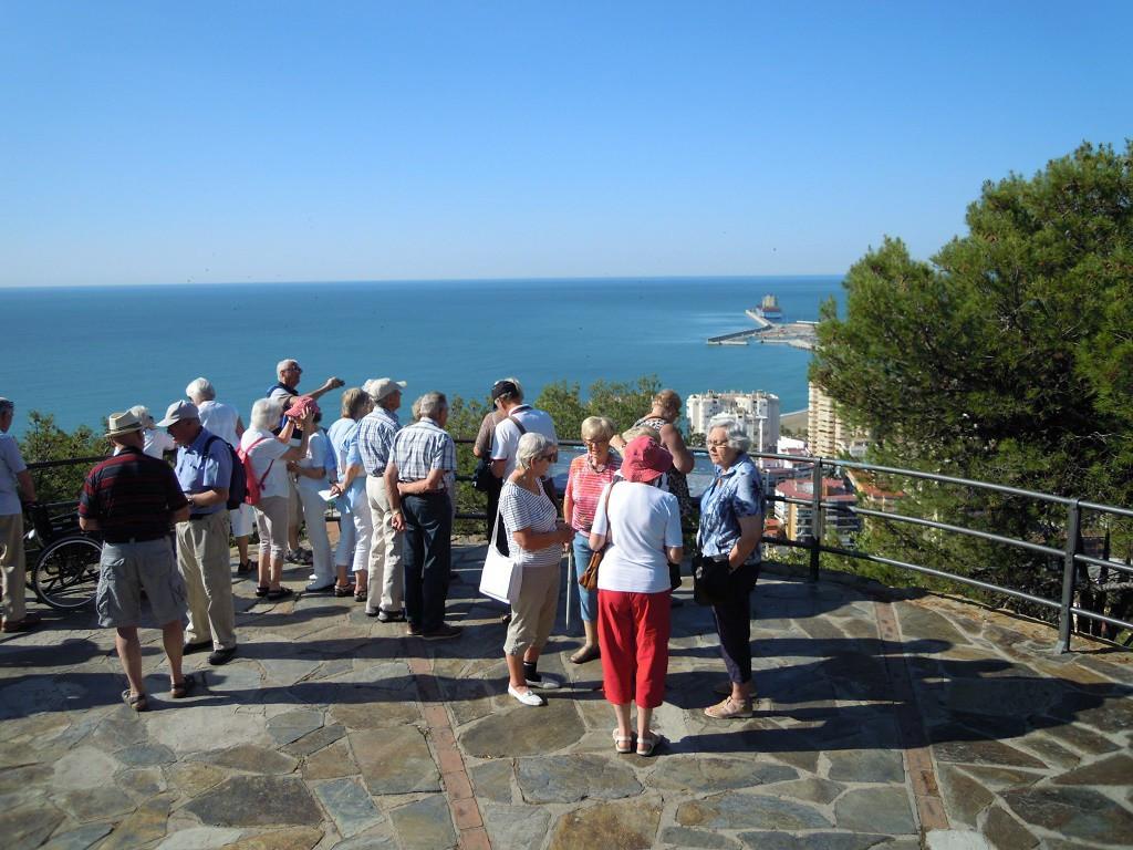 Bilde av Malaga`s utsiktsplatå.