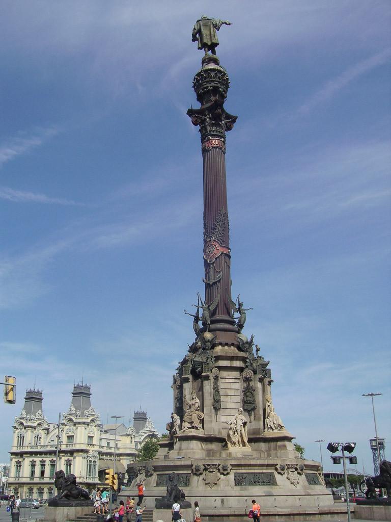 Bilde av Columbus statuen.