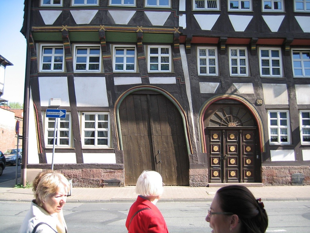 Bilde av Bindingsverkshus i Einbeck.